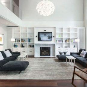 Большая гостиная — лучшие варианты оформления, стильные идеи дизайна и современные стили для гостиной (100 фото)