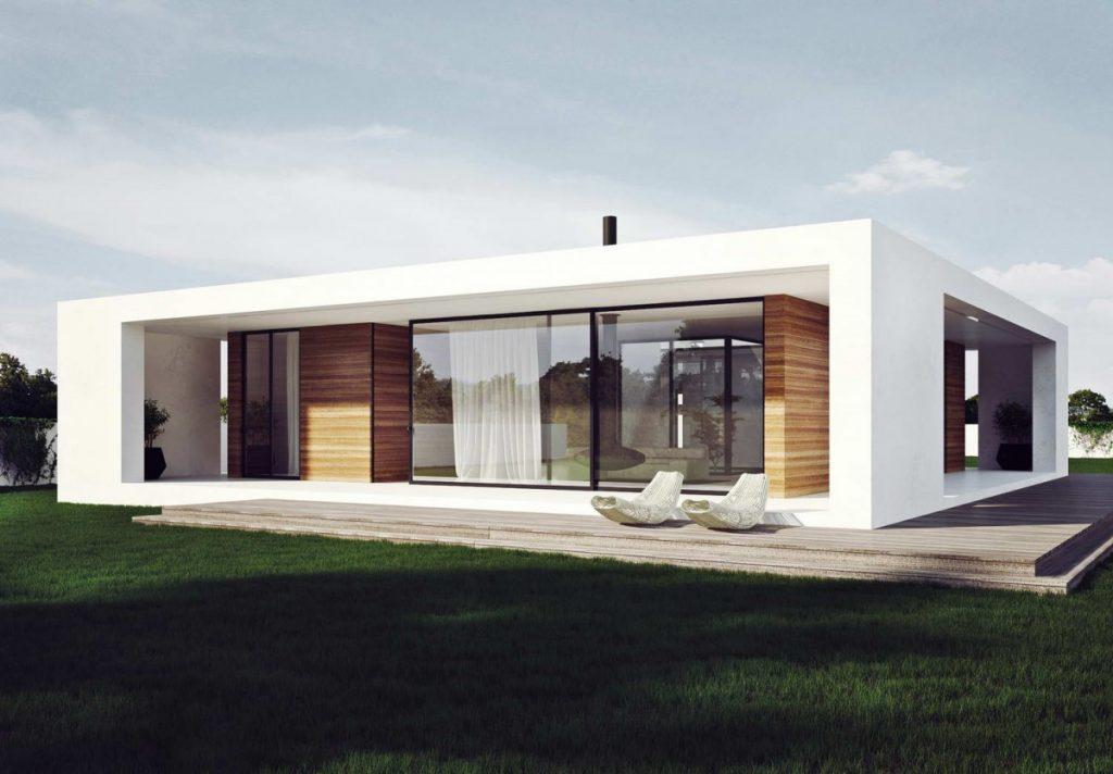 одноэтажные дома без крыши фото красивое