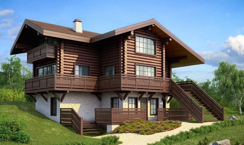 фото фасадов двухэтажных деревянных домов чистую