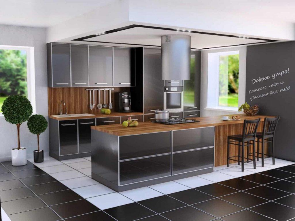 Картинка кухня в стиле хай тек