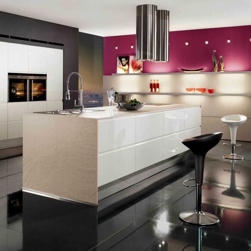 фото красивых кухонь современного стиля интерьера