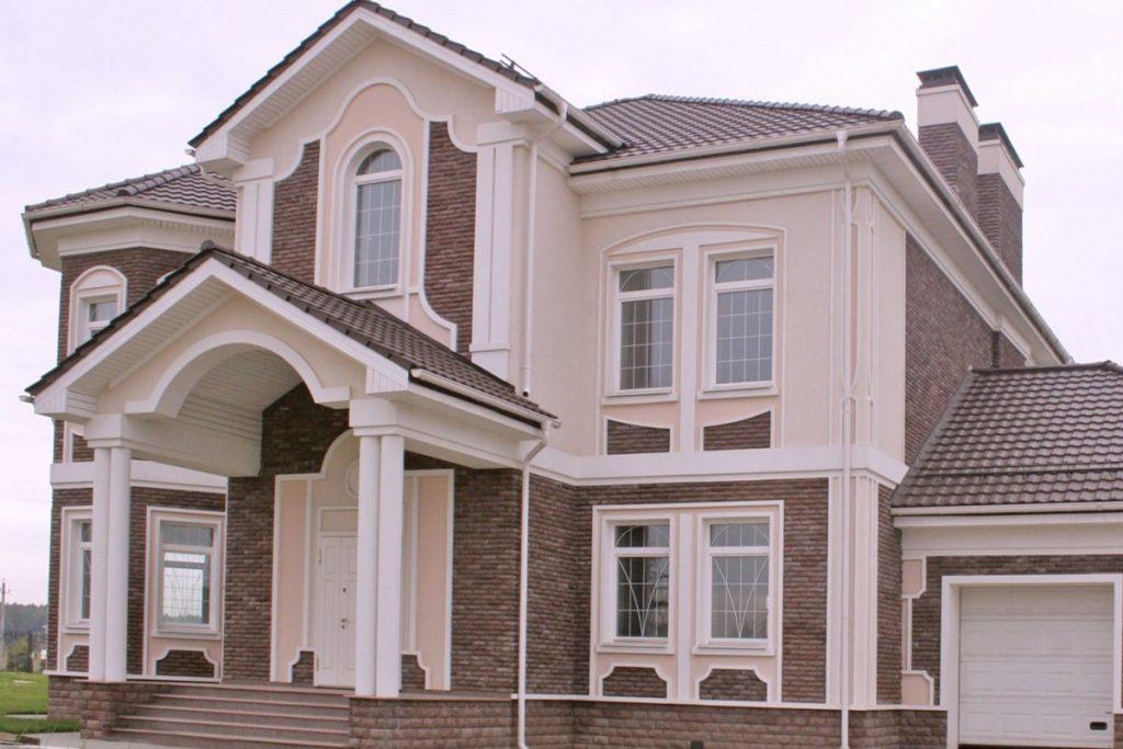 красивые фасады дома с декором фото рисунку должно