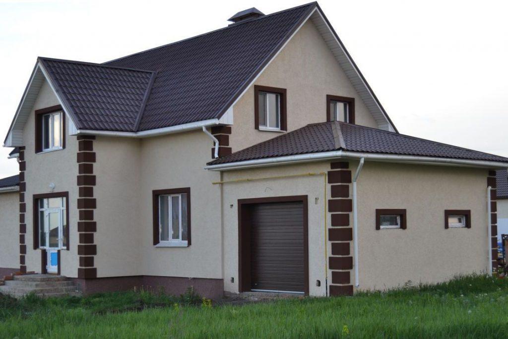 Цвета фасадов оштукатуренных домов фото