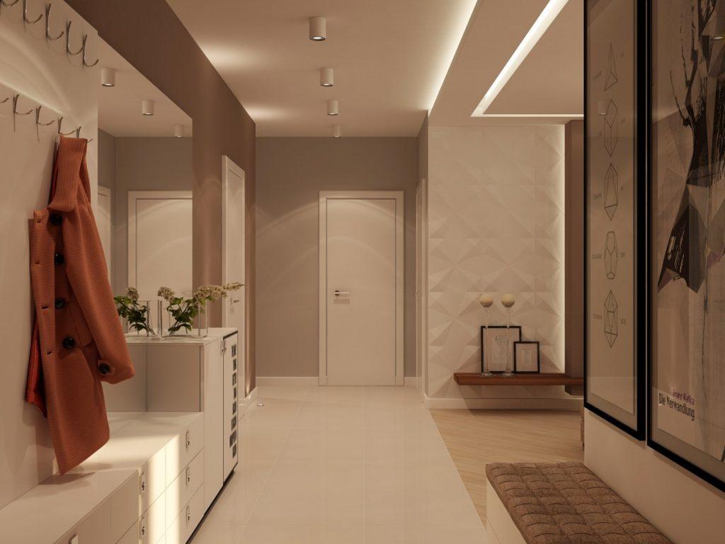 речь идёт дизайн узкой прихожей в частном доме фото важное правило