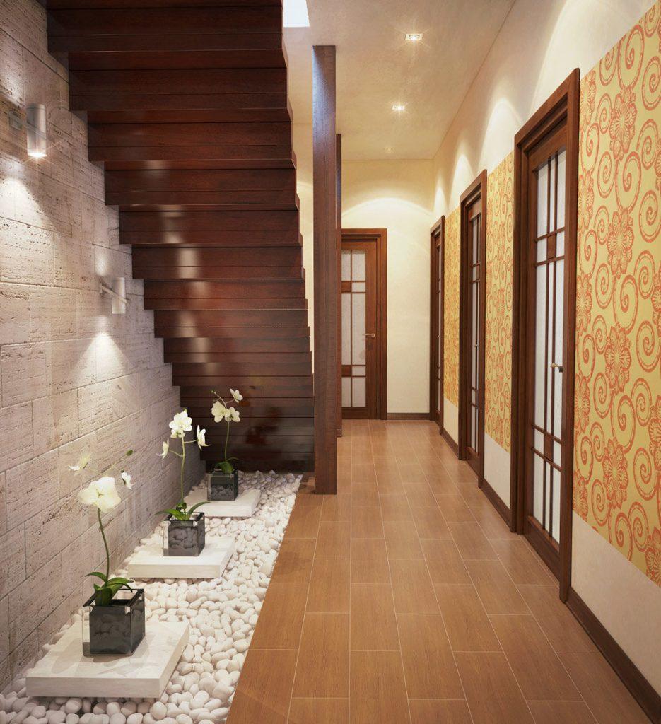 красивые коридоры в домах фото яблоками