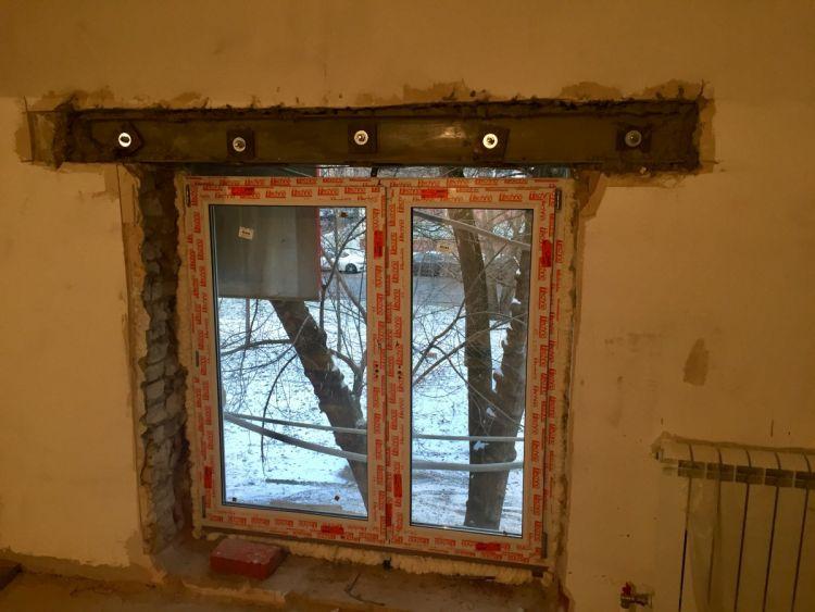 пробить окно в несущей стене