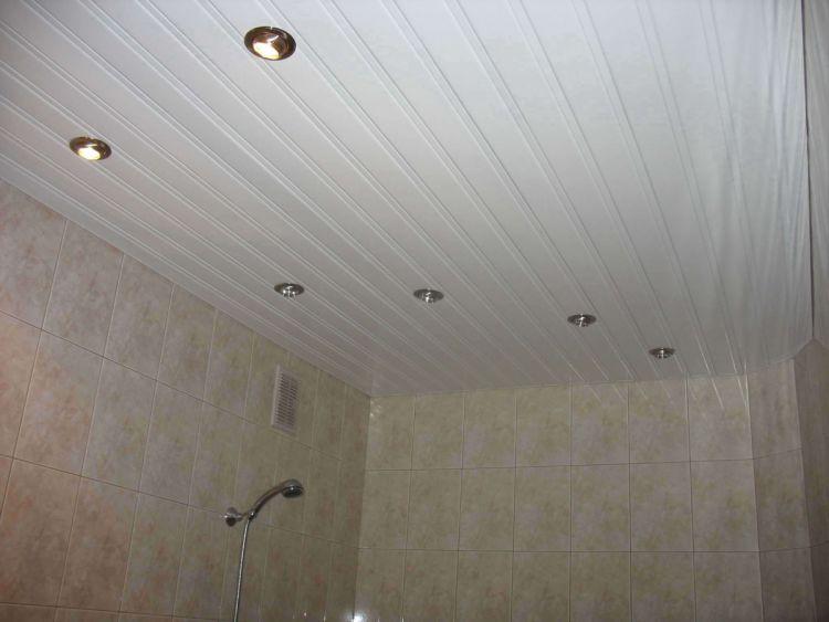 Как монтировать, крепить реечный потолок в ванной