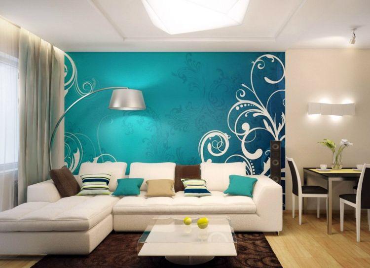 Бирюзовый цвет в интерьере 106 фото с какими другими цветами он сочетается Стены цвета Тиффани сочетание цвета бирюзы с коричневыми оттенками