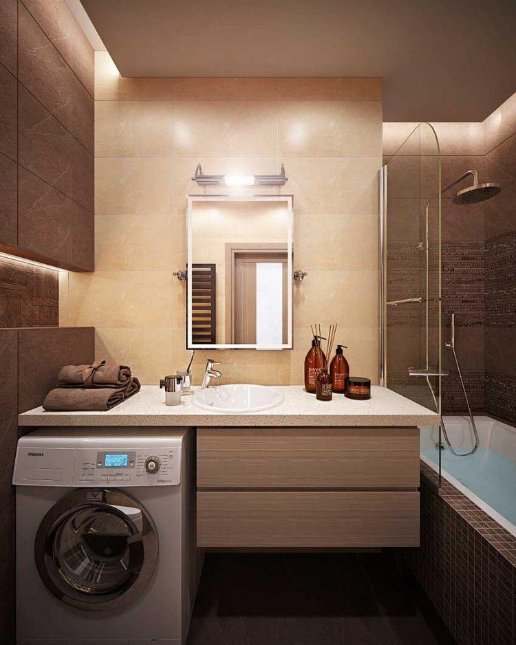 Дизайн ванной комнаты в 4 или 3 м2, идеи с фото