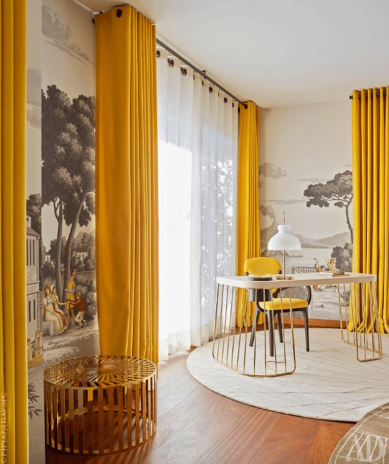 макияж желтые шторы в гостиную фото хотите изготовить