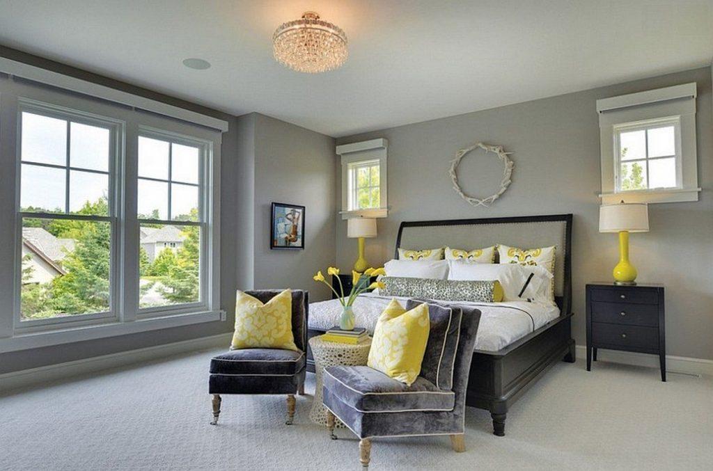 желтые стены серый пол фото вдохновляющая подборка