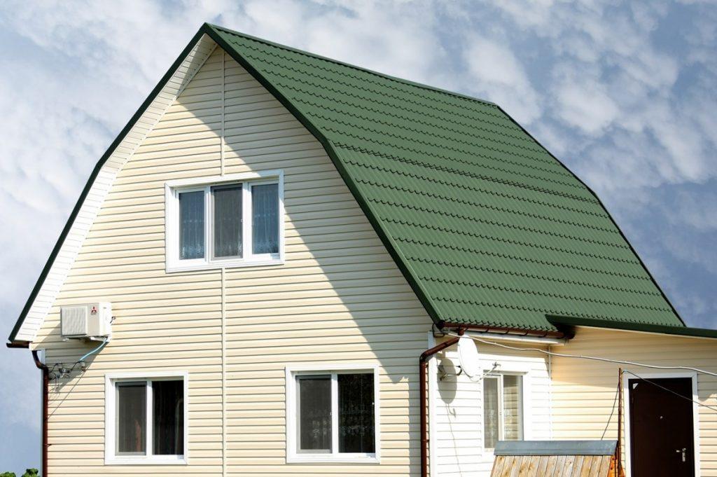 Зеленый сайдинг картинки домов