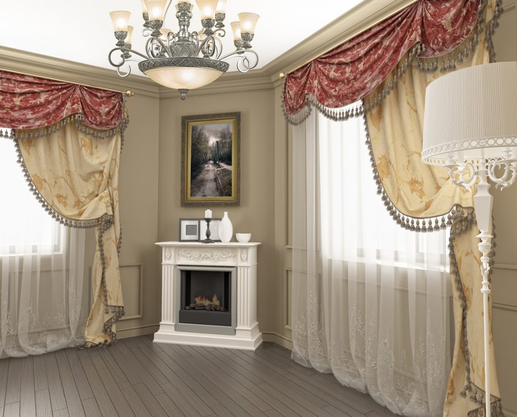 Картинки с дизайном штор для зала