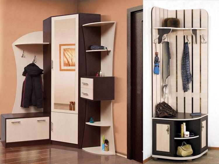 Угловые прихожие в коридор фото мебель